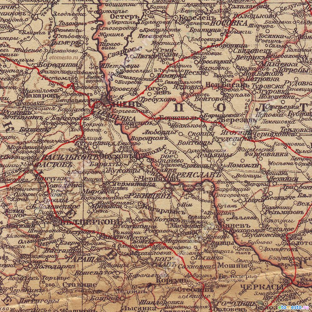Карта Шокальського 1916р