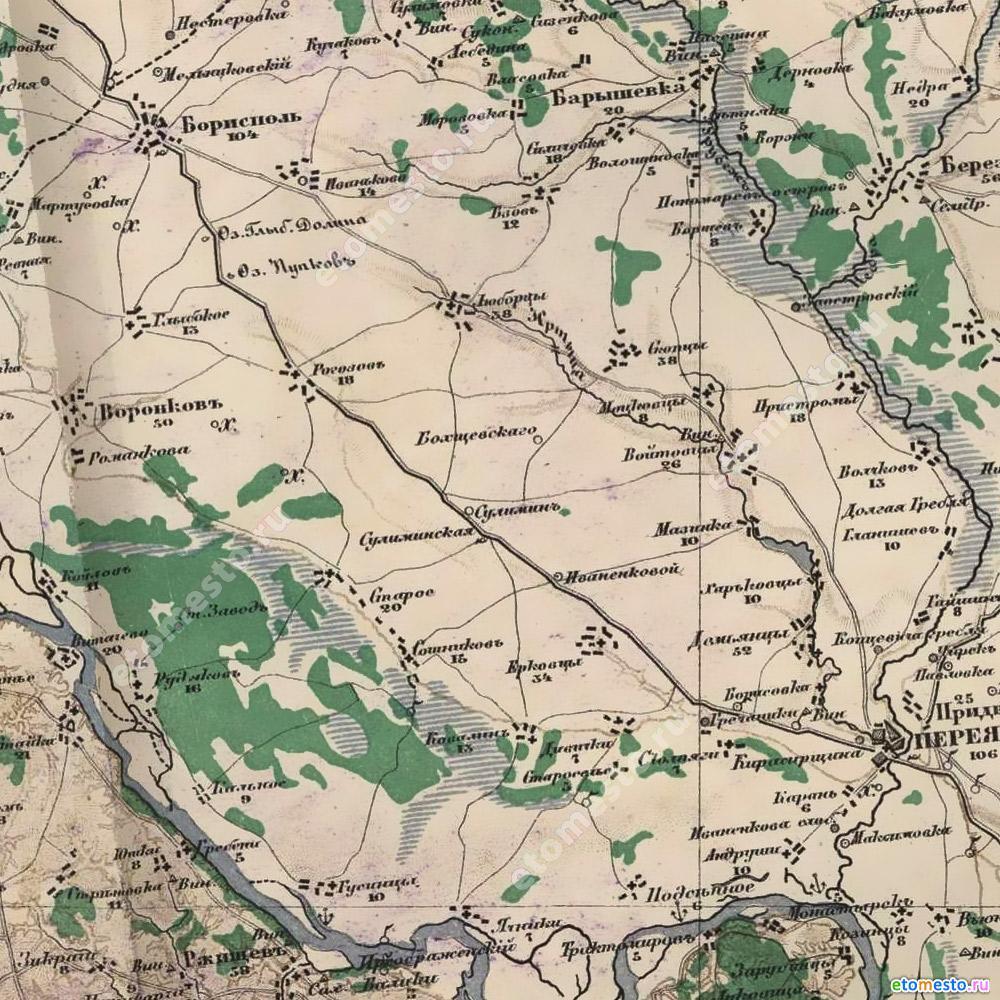 Карта Стрельбицкого1871р