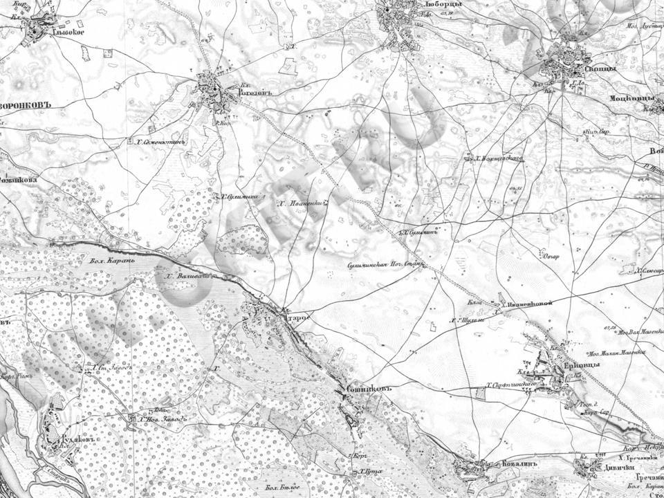 Військово-топографічна карта 1846-1863 р
